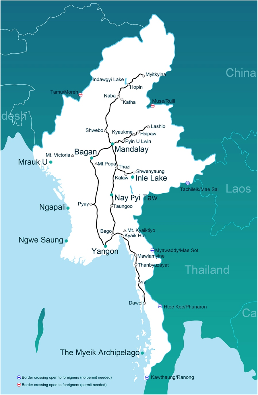 Myanmar Travel Map Burma Tourist Map – Myanmar Tourist Map